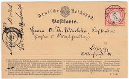 MUTZSCHEN, K2 Klar Auf Pracht-Postkarte 1/2 Gr. Ziegelrot MUTZSCHEN, K2 Klar Auf Pracht-Postkarte 1/2 Gr. Ziegelrot - Sachsen