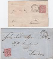 ''62`` Burgstadt, Zwei Prachtbriefe NDP 1 Gr. (1868/1869), Milde 600,- ''62`` Burgstadt, Zwei Prachtbriefe NDP 1 Gr. (18 - Sachsen