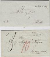 (1812), 128 RATZEBURG, Sauberer L2 Auf Briefhuelle Nach Schwarzenbeck, Dazu L1 RATZEBURG. Auf Kabinettbrief 1814 (1812), - Schleswig-Holstein