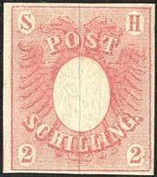 2 Sch. Rosa, Frisches Ungebr. Kabinettstueck, Befund Moeller (Mi. 700,-) 2 Sch. Rosa, Frisches Ungebr. Kabinettstueck, B - Schleswig-Holstein