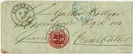 1/2 Schilling, Voller Durchstich, Prachtstueck Auf Brief (rechts + Oben Offen, Gering Beschnitten, Rs Nicht Ganz Komplet - Schleswig-Holstein