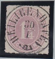 1 1/4 Sch. Purpur, Idealer Posthorn-K1 HELIGENHAFEN, Kl. Kratzer 1 1/4 Sch. Purpur, Idealer Posthorn-K1 HELIGENHAFEN, Kl - Schleswig-Holstein