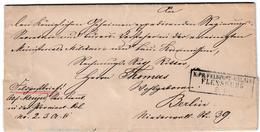 Feldpost: 1864, Sollerup (bei Schleswig), Dek. Brief Mit R3 K: PR: FELDPOST-RELAIS FLENSBURG Feldpost: 1864, Sollerup (b - Schleswig-Holstein