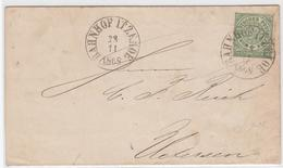 BAHNHOF ITZEHOE, Selt. Grosser K1 (vom 28.11.1868) Auf Drucksache 1/3 Gr. Gruen (NDP 2) BAHNHOF ITZEHOE, Selt. Grosser K - Schleswig-Holstein