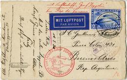 """Suedamerikafahrt 1930: 2 RM Suedamerilkafahrt Auf Prachtkarte """"Friedrichshafen 18.5.30"""" Via """"Rio De Janeiro"""" Nach Buenos - Luftpost"""