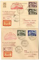 1931, Polarfahrt Des LZ Graf Zeppelin Russ. Post, Brief Und Karte Mit Geschnittenen Marken Von Leningrad, Mit Allen Stem - Luftpost