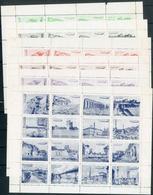 Italienfahrt 1933: Sechs Vignetten Kleinbogen Zu 16 Marken Mit Versch. Motiven, Alle Mit Kompl. Bogenraendern (Raender T - Luftpost