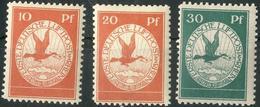 10,20,30 Pf Rhein-Main ** Prachterhaltung 10,20,30 Pf Rhein-Main ** Prachterhaltung - Luftpost