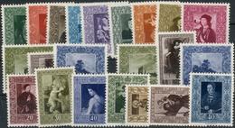 Gemaelde-Serien 1949/1954 **, Nr. 268/276, 301/303, 306/308, 311/314 Und 326/328, Feinst. M? 546.- Gemaelde-Serien 1949/ - Liechtenstein