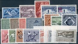 1950/1954, 7 Gedenkausgaben **, Nr. 281/283, 310, 315/321, 322/325 Und 329/331, Feinst. M? 408.- 1950/1954, 7 Gedenkausg - Liechtenstein