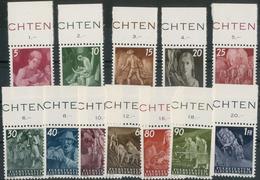Freimarken 1951 **, Oberrandsatz, Feinst. M? 180.- Freimarken 1951 **, Oberrandsatz, Feinst. M? 180.- - Liechtenstein