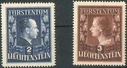 Fuerstenpaar 1951 Gez. 14 3/4 **, Feinst. M? 1.460.- Fuerstenpaar 1951 Gez. 14 3/4 **, Feinst. M? 1.460.- - Liechtenstein