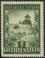 5 Fr 1952 **, Feinst. M? 250.- 5 Fr 1952 **, Feinst. M? 250.- - Liechtenstein