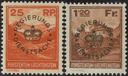 25 Rp Und 1,20 Fr 1933 **, Feinst. M? 400.- 25 Rp Und 1,20 Fr 1933 **, Feinst. M? 400.- - Liechtenstein