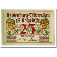 Billet, Allemagne, Neindenburg, 25 Pfennig, Château, 1921, Undated, SPL - Germany