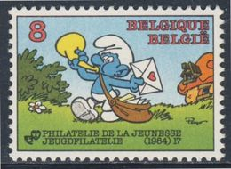Belgie Belgique Belgium 1984 Mi 2202 YT 2150 ** Smurf Postman / Schlumpf Postbote By Peyo / Comic Strip / Stripfiguur - Kindertijd & Jeugd