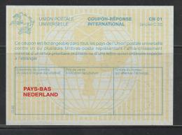 Nederland Antwoordcoupon CN 01   Gelige Achtergrond - Postal Stationery