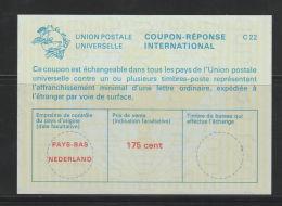 Nederland Antwoordcoupon C 22    175 Cent  Groenige  Ondegrond - Postal Stationery