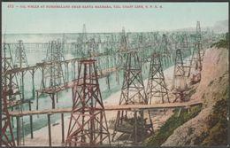 Oil Wells At Summerland, Santa Barbara, California, C.1910 - Mitchell Postcard - Santa Barbara