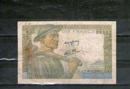 BILLET DIX FRANCS MINEUR - 1871-1952 Circulated During XXth