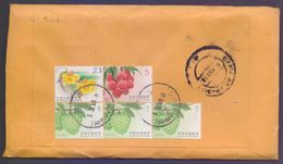Fruits Flowers, Postal History Cover From TAIWAN, Used 2018 - 1945-... Republic Of China