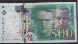 France 1994 Billet 500 F Pierre Et Marie Curie 1994 Circulé - 500 F 1994-2000 ''Pierre Et Marie Curie''
