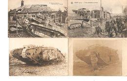 Guerre-Oorlog 14-18 6 CP-PK Dont 1 Photo Militaria Tank Et Train Blindés 1692 - Weltkrieg 1914-18