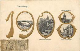 Ref X115- Luxembourg - Luxemburg - Carte Gaufrée - Multivues - Année 1908 - Carte Bon Etat - - Unclassified
