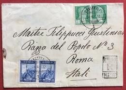 TURCHIA RACCOMANDATA DA CANAKKALE DARDANELLI A ROMA INEL 1932 - 1858-1921 Empire Ottoman