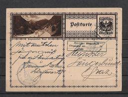 1928 POSTKARTE → Mit Bild Paznauntal Im Tirol Nach Graz - Ganzsachen