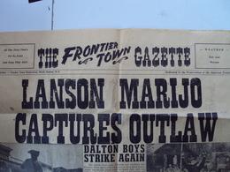"""CANADA----   JUILLET    1969------  The FRONTIER TOWN  -----  """"Petite Gazette Recto-verso""""      3 Euros - Dépliants Touristiques"""