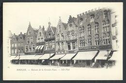 +++ CPA - BRUGGE  BRUGES - Maisons De La Grande Place - Cafés   // - Brugge