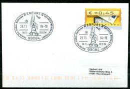 """Germany 2004 Heimatbeleg/Card 99084 ERFURT M.ATM .Nr.5 U.SST""""Erfurt-Erfurter Weihnachtsmarkt""""1Beleg - BRD"""