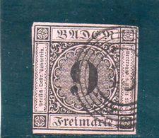 BADEN 1851-2 O - Bade