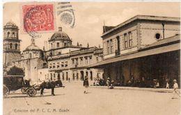 GUADALAJARA - Estacion Del F.C.C.M. Gare - Attelage      (103178) - Mexico