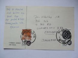 MEXICO - 1983 Postcard Guanajuato To Oxford England - Mexique