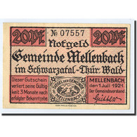 Billet, Allemagne, Mellenbach Gemeinde, 20 Pfennig, Paysage, 1921, 1921-07-01 - Germany