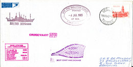 South Africa Paquebot Cover Cape Town Posted At Sea 4-7-1983 RS/NS Africana 10 Voyage With A Lot Of Postmarks - Covers & Documents