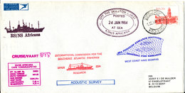 South Africa Paquebot Cover Cape Town Posted At Sea 24-1-1984 RS/NS Africana 15 Voyage With A Lot Of Postmarks - Covers & Documents