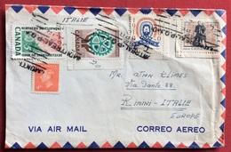 CANADA MONTREAL   BUSTA  PAR AVION PER  RIMINI ITALIA - 1937-1952 Regno Di George VI