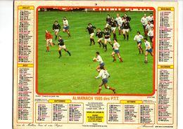 ALMANACH DES PTT - 1985 - RUGBY FRANCE-ECOSSE 1983 - COURSE AUTOMOBILE F1 GRAND PRIX DE MONACO - Big : 1981-90
