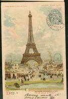 La Tour Eiffel - Exposition Universelle De 1900 (Prière De Tenir La Carte Vers Le Jour) - Exhibitions