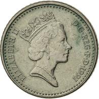 Grande-Bretagne, Elizabeth II, 5 Pence, 1991, TTB, Copper-nickel, KM:937b - 1971-… : Monnaies Décimales