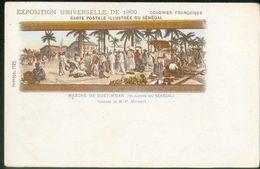 Colonies Françaises - CP Illustrée Du Sénégal - Exposition Universelle De 1900 (Marché De Guet-N'Dar (St-Louis Du Sénéga - Tentoonstellingen