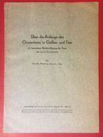 Über Die Anfänge Des Christentums In Gallien Und Trier 1931 Heft 2/3 - Crónicas & Anuarios