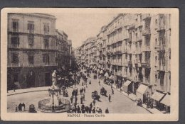 1927 NAPOLI Piazza Carità FP V  SEE  2 SCANS  Animata - Napoli