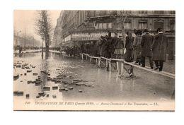 75 - PARIS . INONDATIONS DE PARIS 1910 . Avenue Daumesnil Et Rue Traversière - Réf. N°7980 - - Inondations De 1910