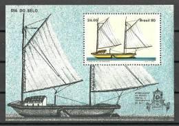 Brazil 1980 ( Stamp Day - Sa'o Francisco River Canoe ) - MNH (**) - Brazilië