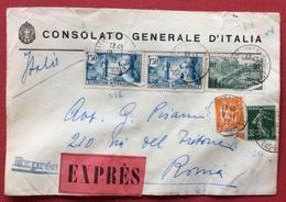FRANCIA  ESPRESSO DA STRASBURGO A ROMA DEL CONSOLATO GENERLE D'ITALIA   10/1/1938 - Francia