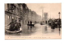 75 - PARIS . INONDATIONS DE PARIS 1910 . QUAI DES GRANDS AUGUSTINS - Réf. N°7983 - - Paris Flood, 1910